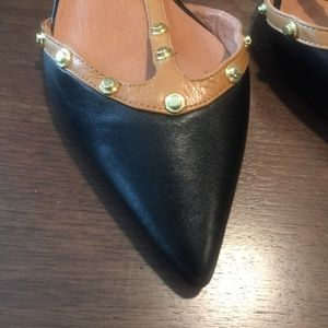 Halogen || Studded Flat Pointed Shoes